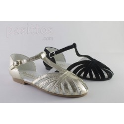 SANDALIAS RUTH SECRET PIEL TIPO CANGREJERAS